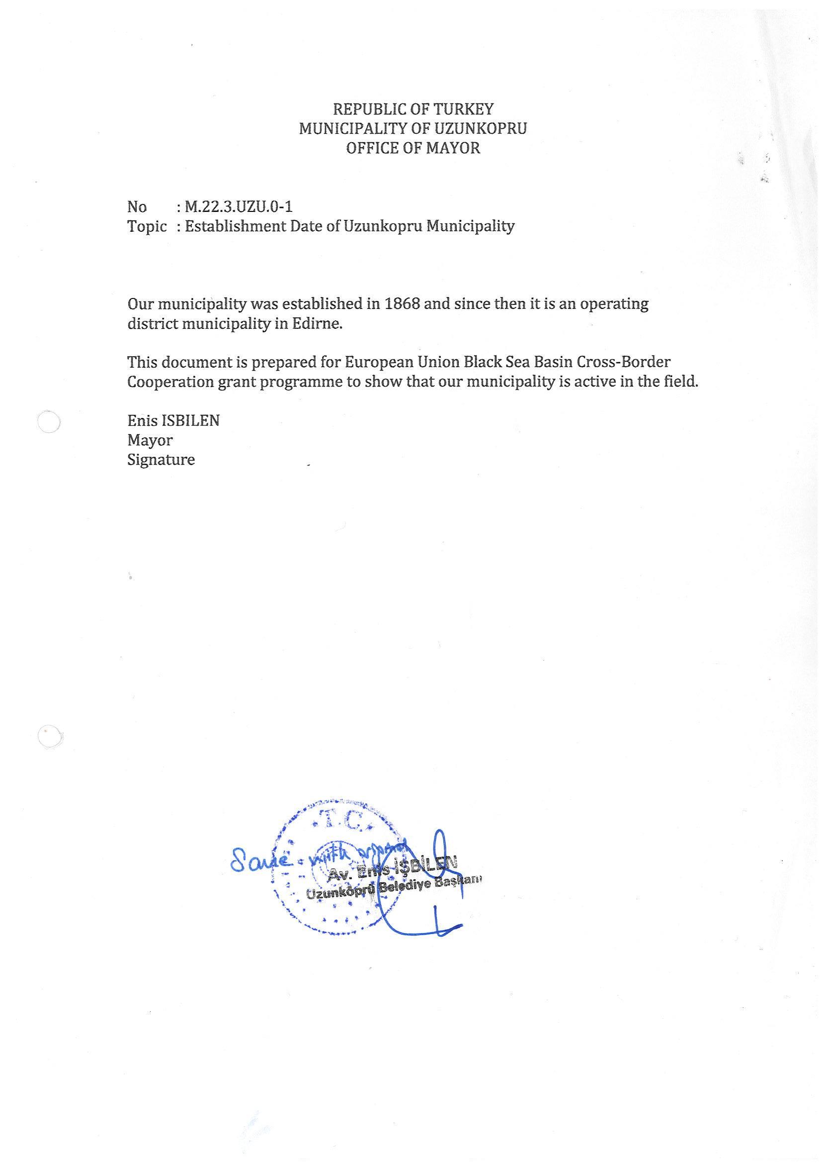 Official Registration Letter