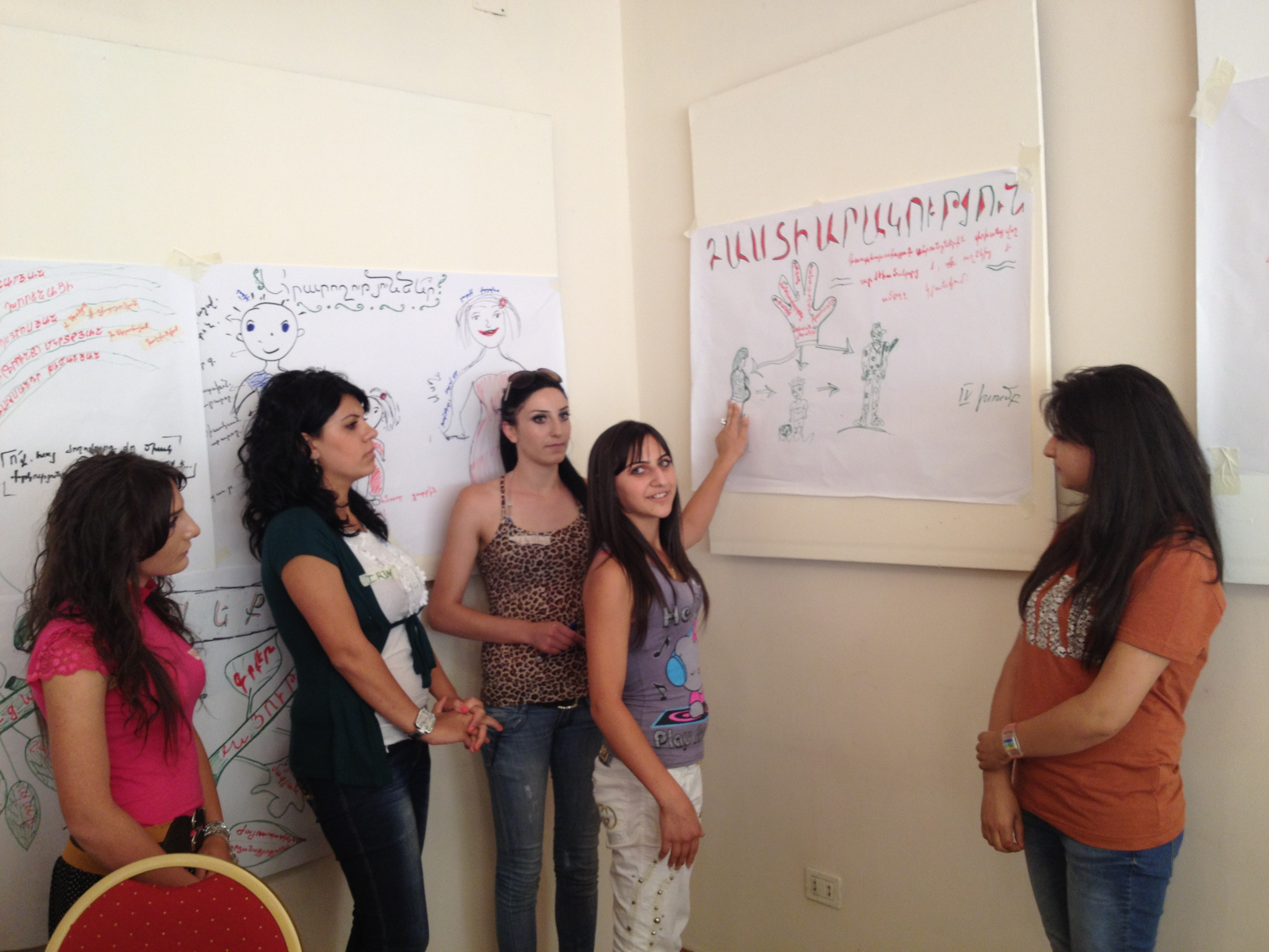 YARCC_Youth Training on Shared Values  Yerevan_Preparing a Poster (7)